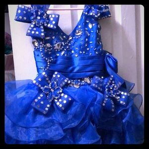Other - Royal blue cupcake pageant dress